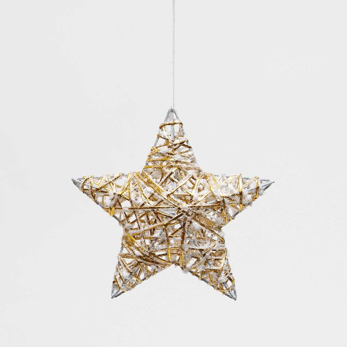 GALA WHITE/GOLD 3-D STAR ORNAMENT AMENT
