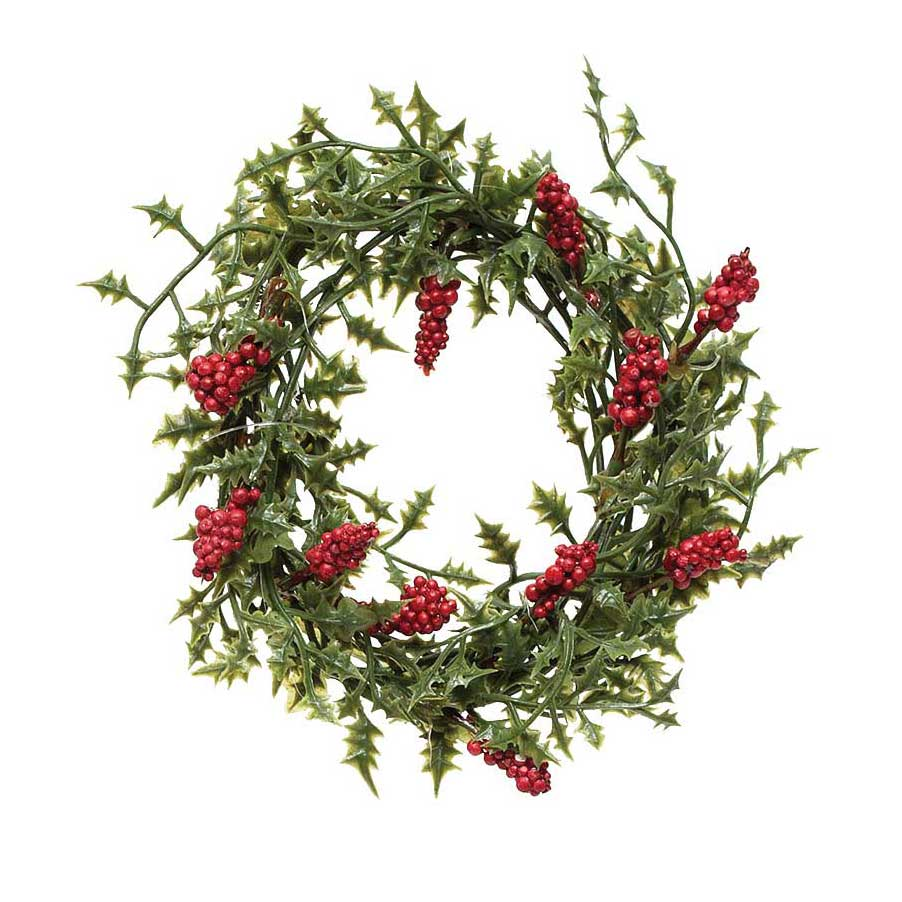 NATURAL HOLLY MINI WREATH