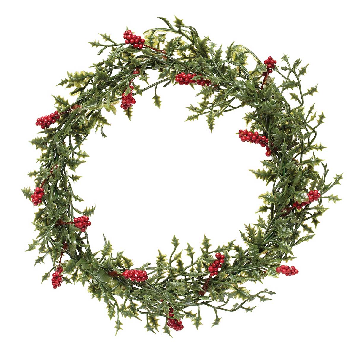 NATURAL HOLLY WREATH