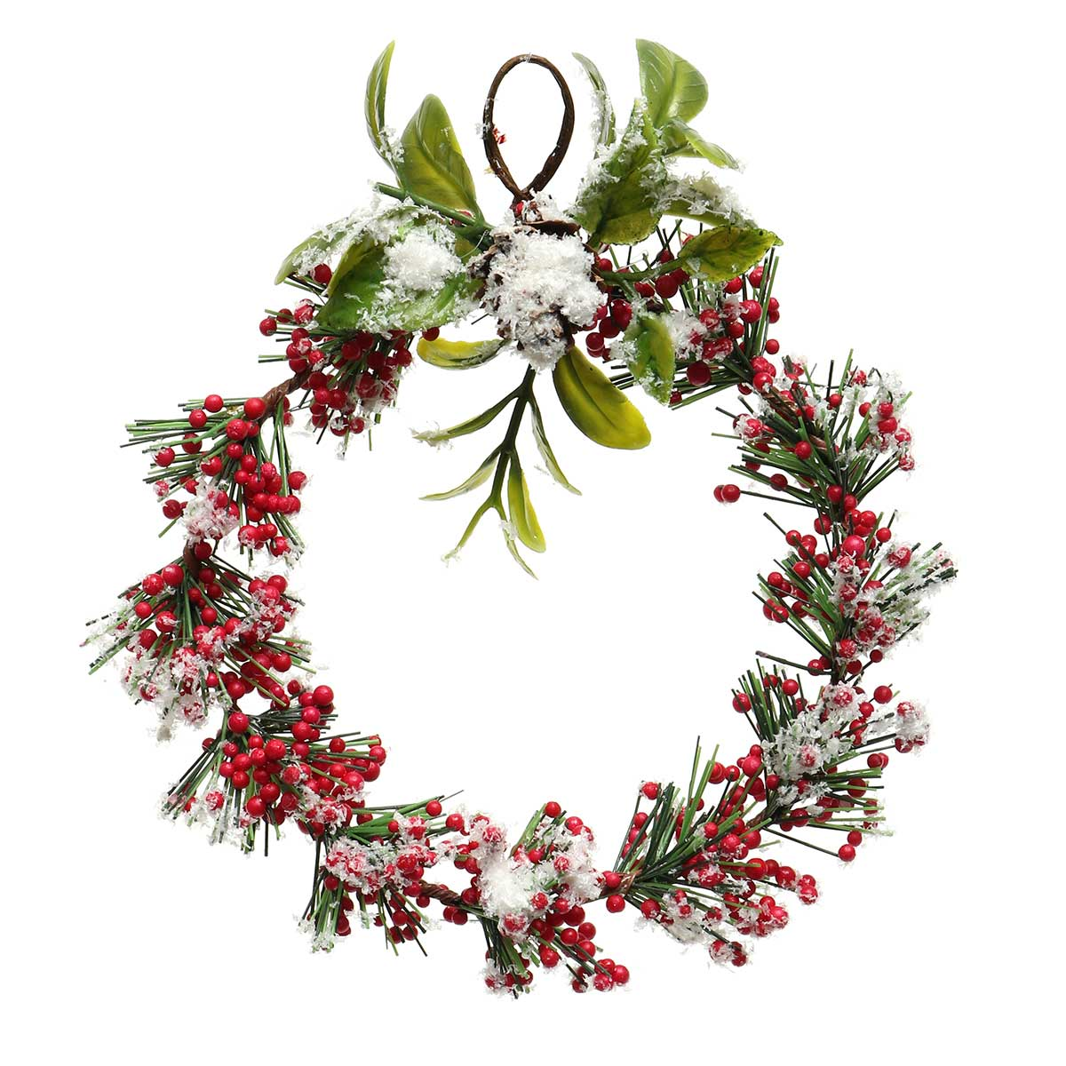 WINTER RED BERRY WREATH ORNAMENT AMENT