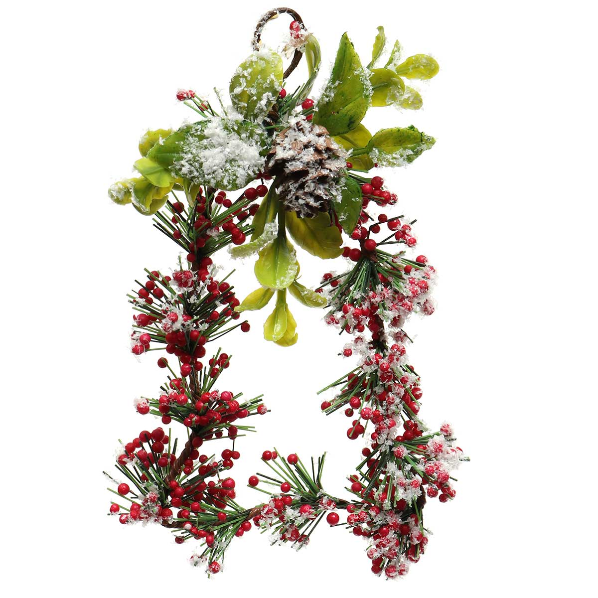 WINTER RED BERRY BELL-SHAPED WREATH ORNAMENT