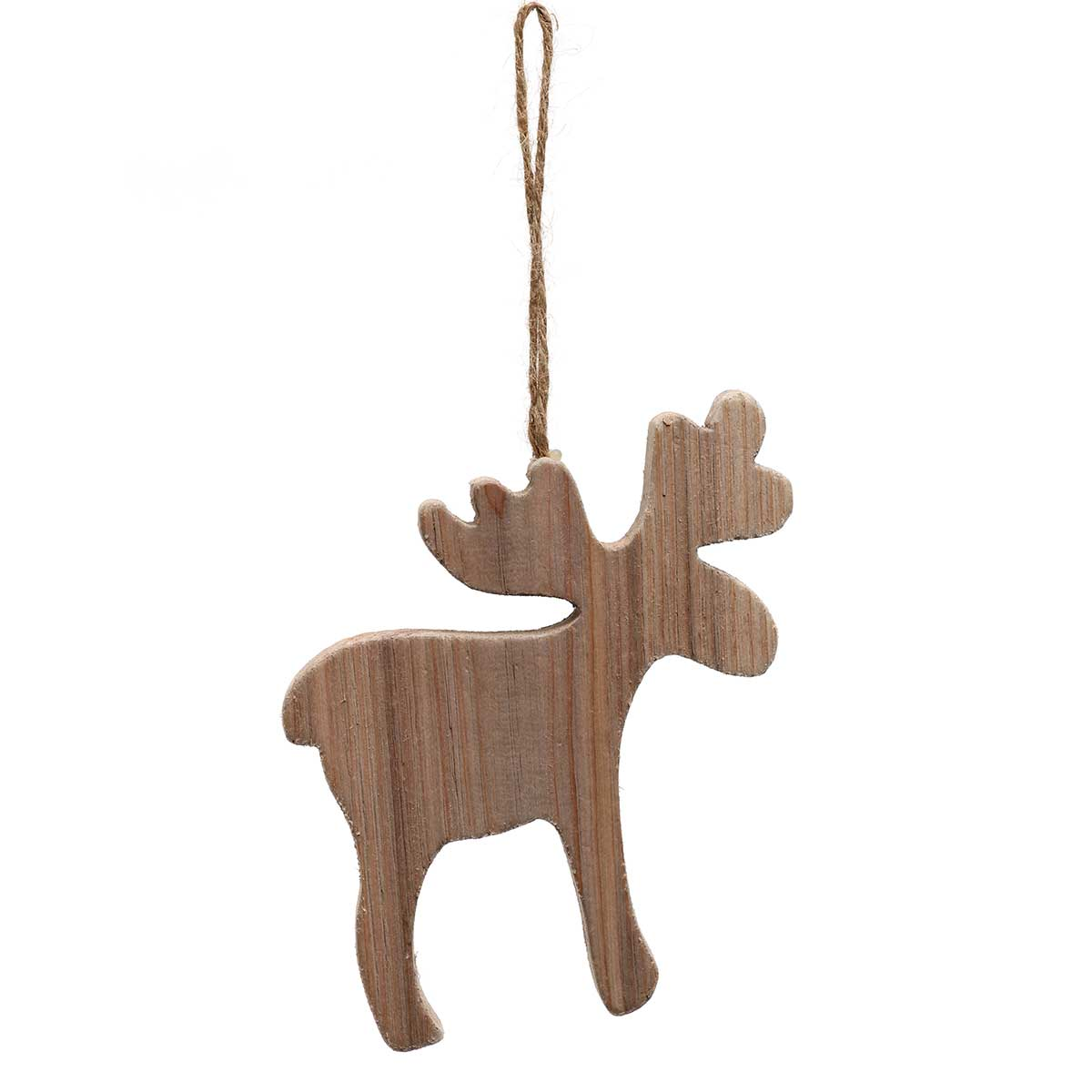MARTY MOOSE WOOD ORNAMENT