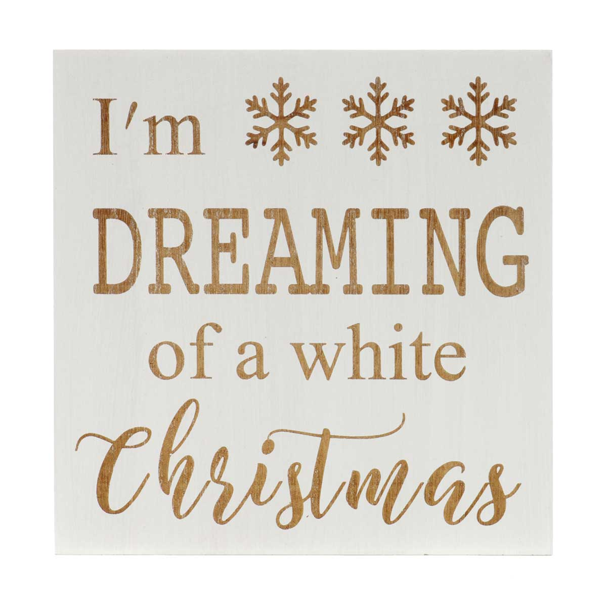 "I'M DREAMING"" NATURAL/WHITE ""Christmas and More Holiday 2020: *"