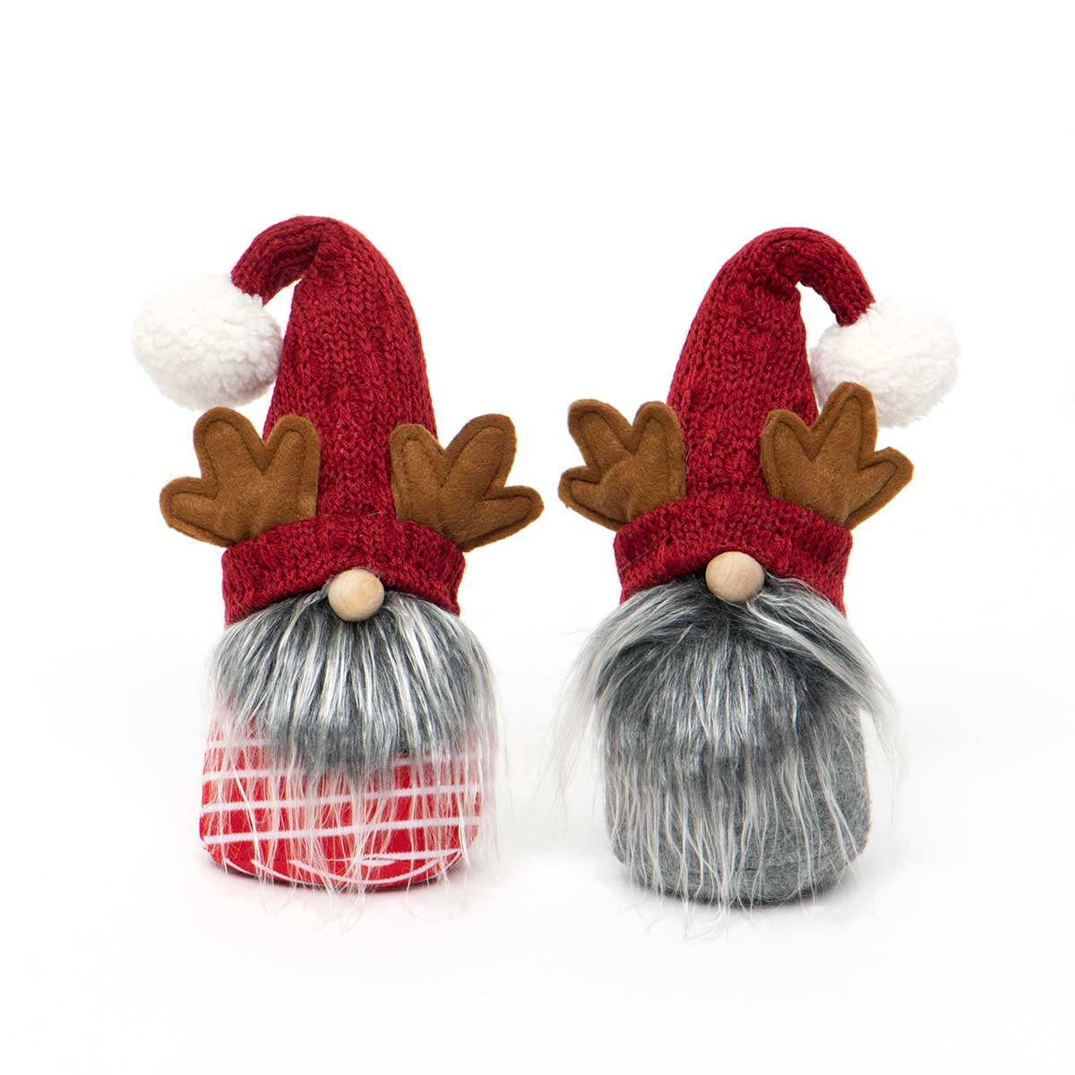 GNOME WITH ANTLERS, WIRED SWEATER HAT,