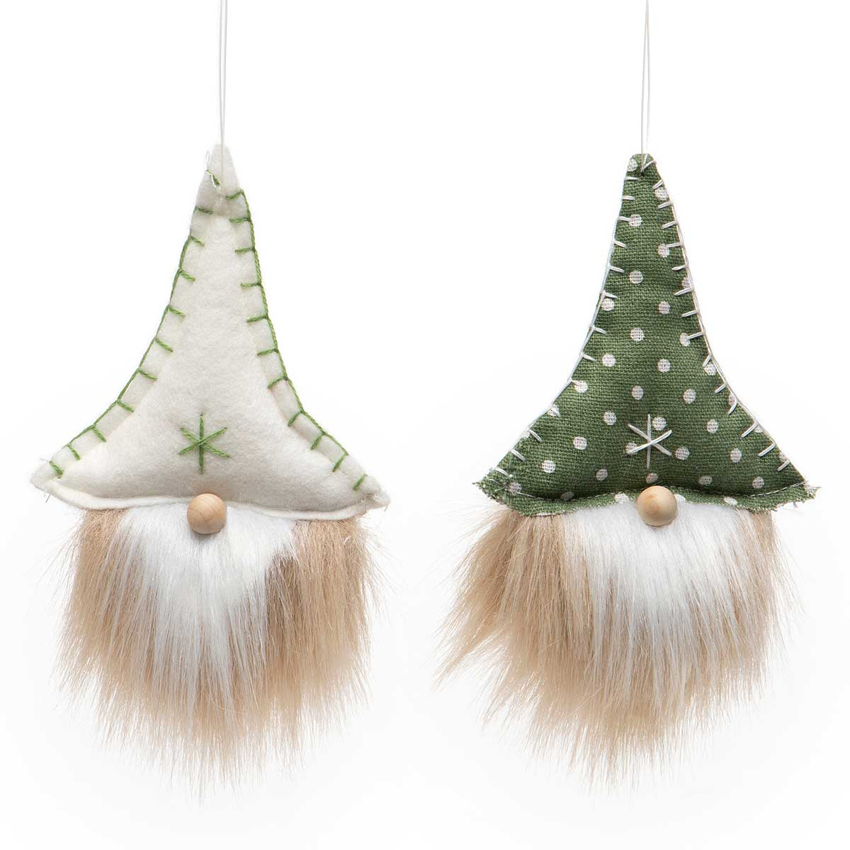 PINDOT GNOME ORNAMENT WITH SNOWFLAKE