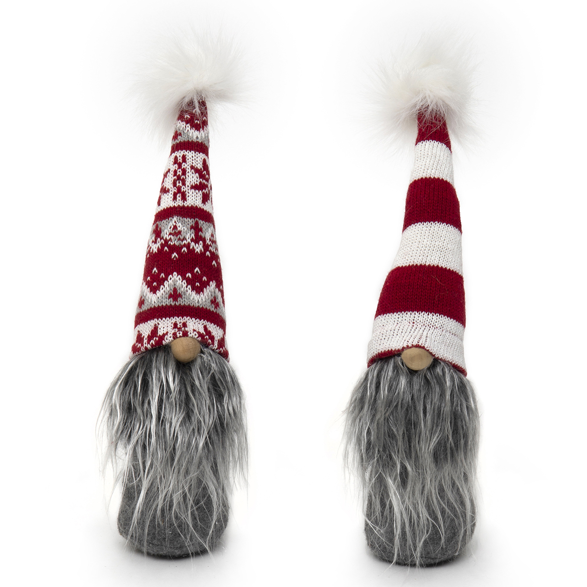 GNOME WITH PUFF, WIRED RED/WHITE HAT,