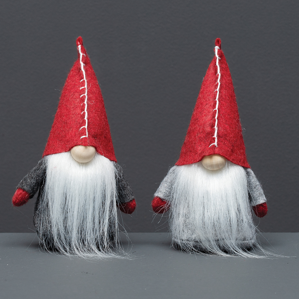 GNOME ORNAMENT WITH RED STITCH HAT,