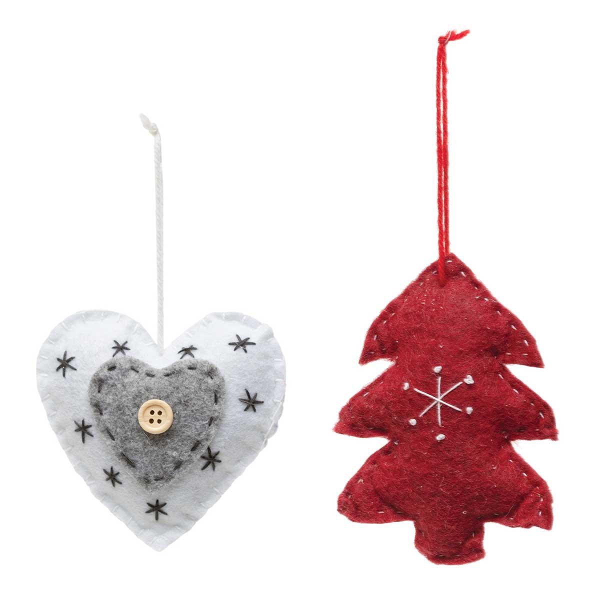 HEART & TREE PLUSH ORNAMENT