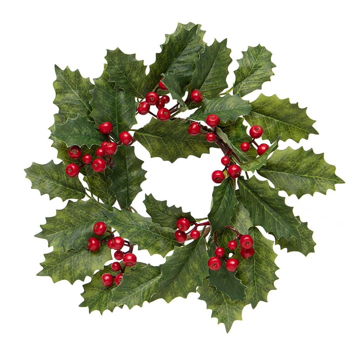 HOLLY BERRY CANDLERING/MINI WREATH
