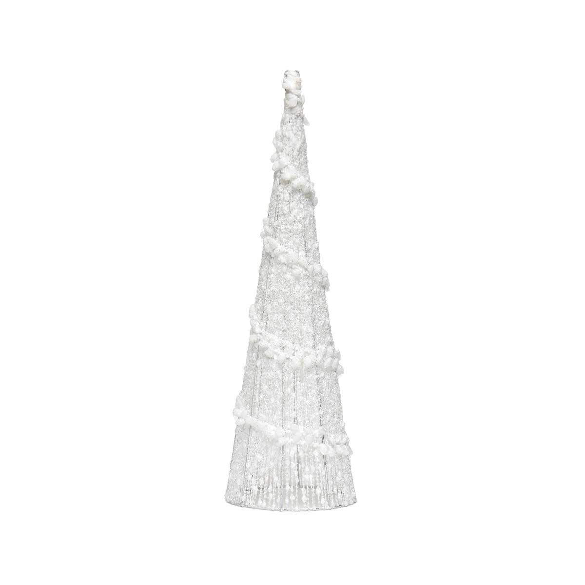 WHITE PUFF BALL CONE TREE