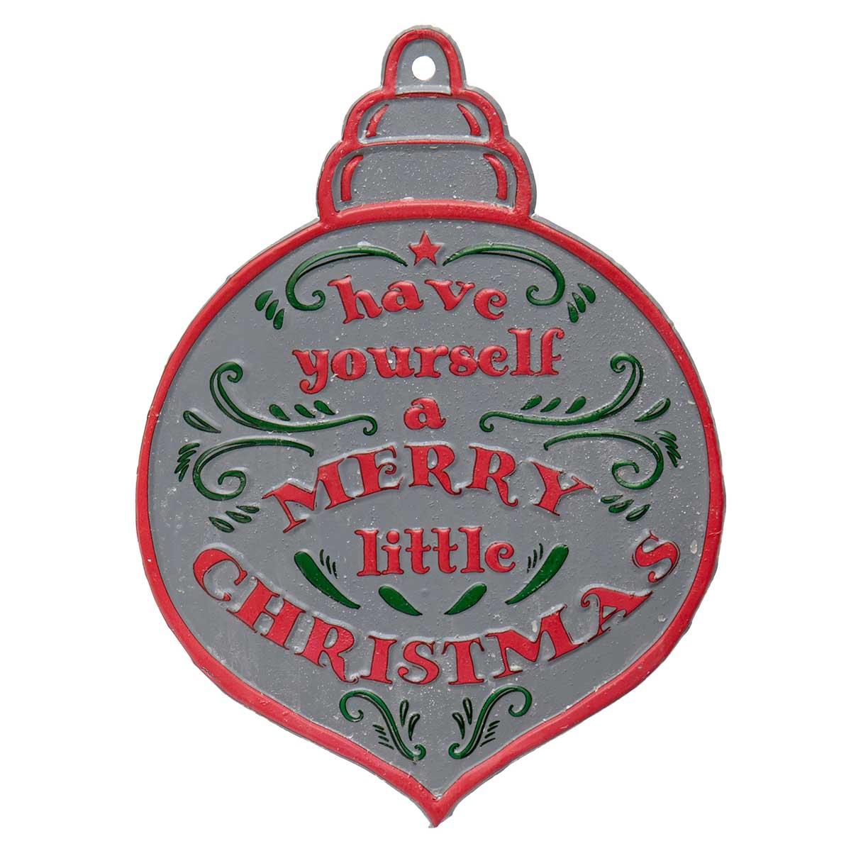 """METAL """"MERRY CHRISTMAS"""""""