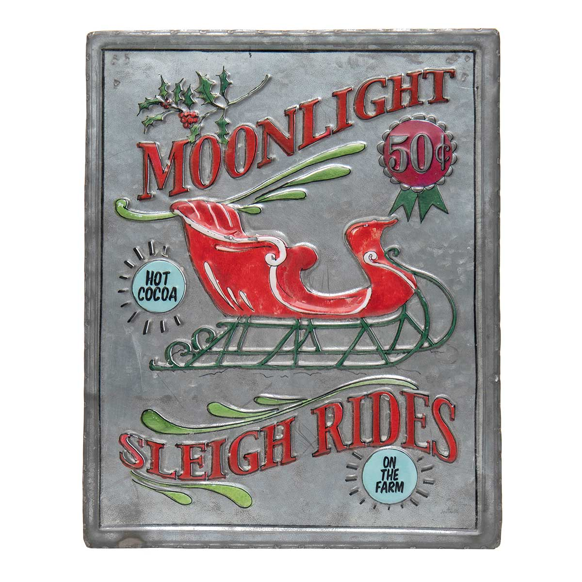 "METAL ""SLEIGH RIDES"" RECTANGLE"