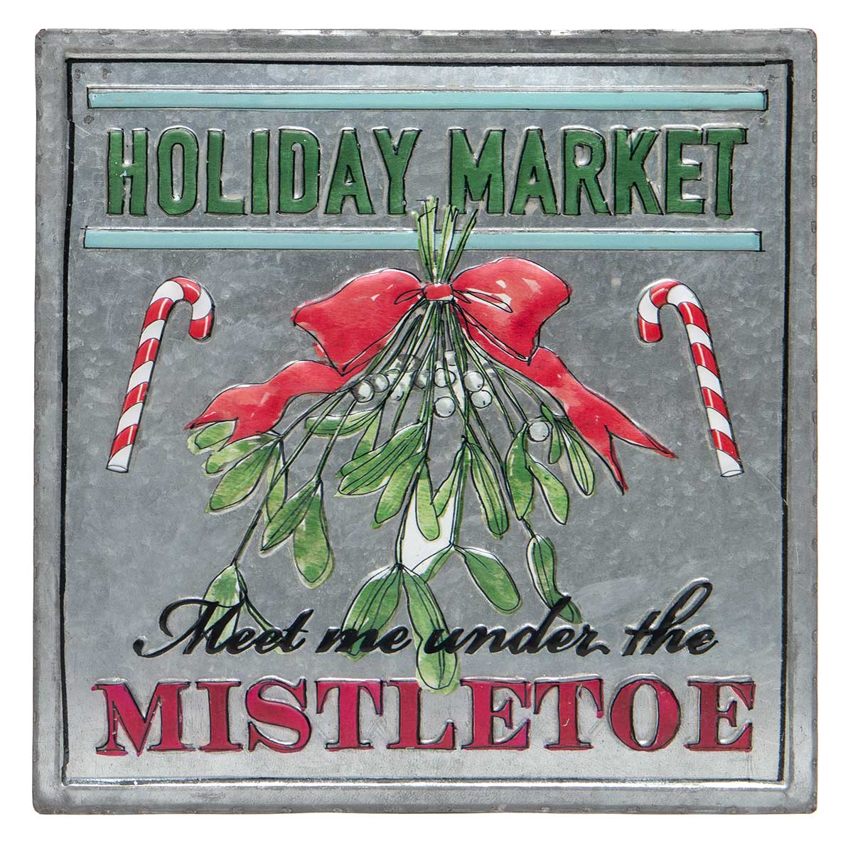 "METAL ""MISTLETOE"" SQUARE"