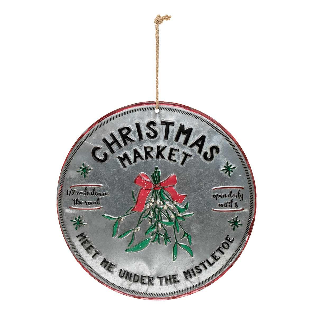 """ROUND METAL """"CHRISTMAS"""