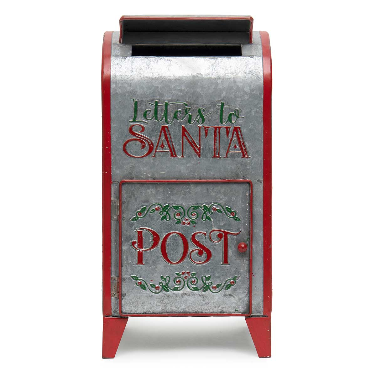"METAL ""SANTA POST"" MAIL"