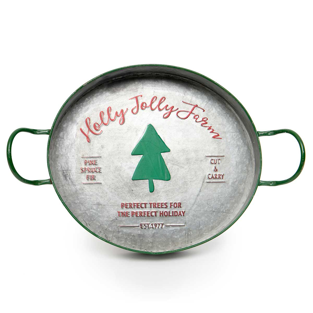 "METAL ""HOLLY JOLLY FARM"""