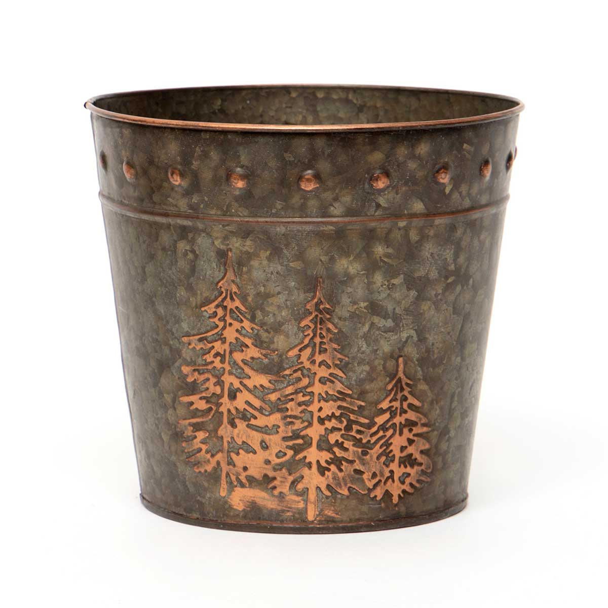 BRONZE FINISH METAL BUCKET