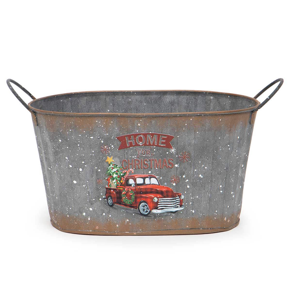 OVAL METAL TRUCK BUCKET