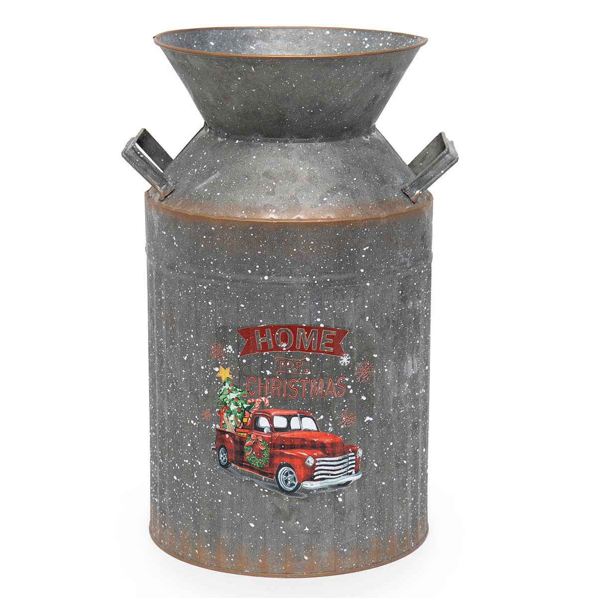 "METAL TRUCK MILK CAN 14.5""X16.75"""