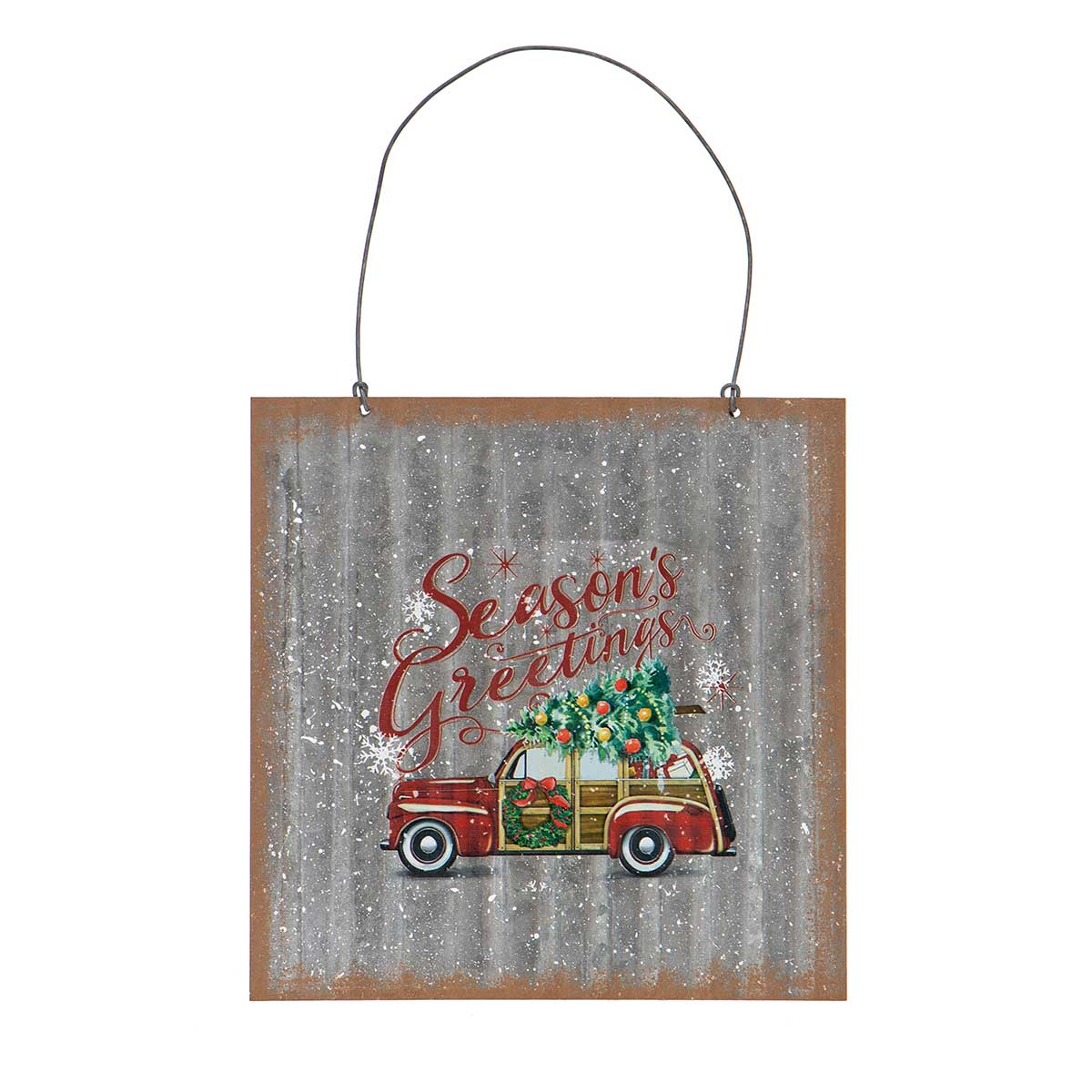METAL CAR SQUARE SIGN ORNAMENT