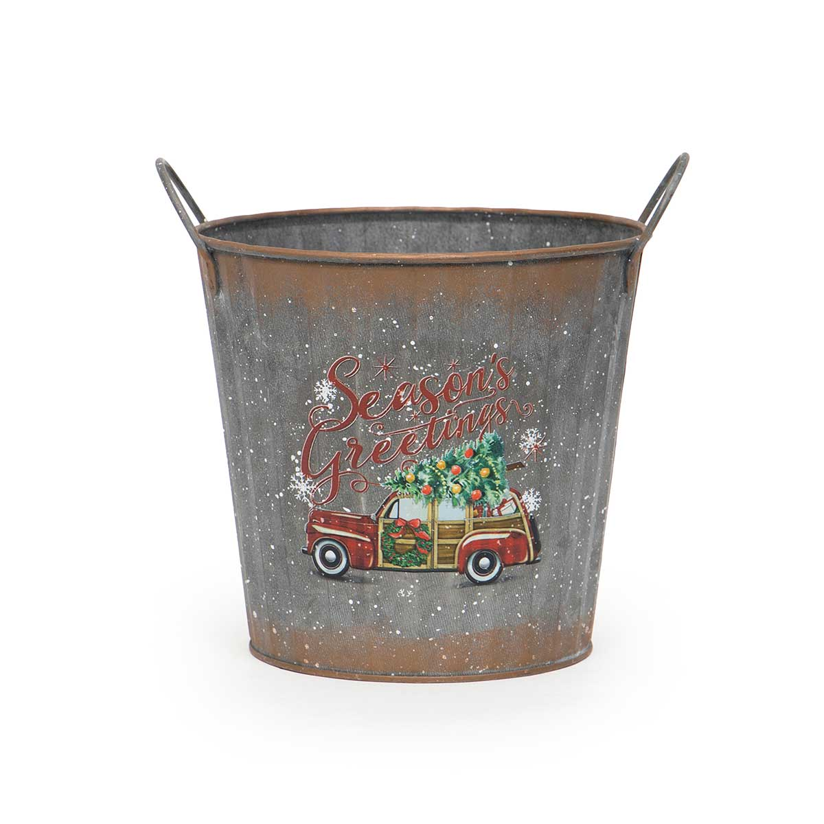 ROUND METAL CAR BUCKET