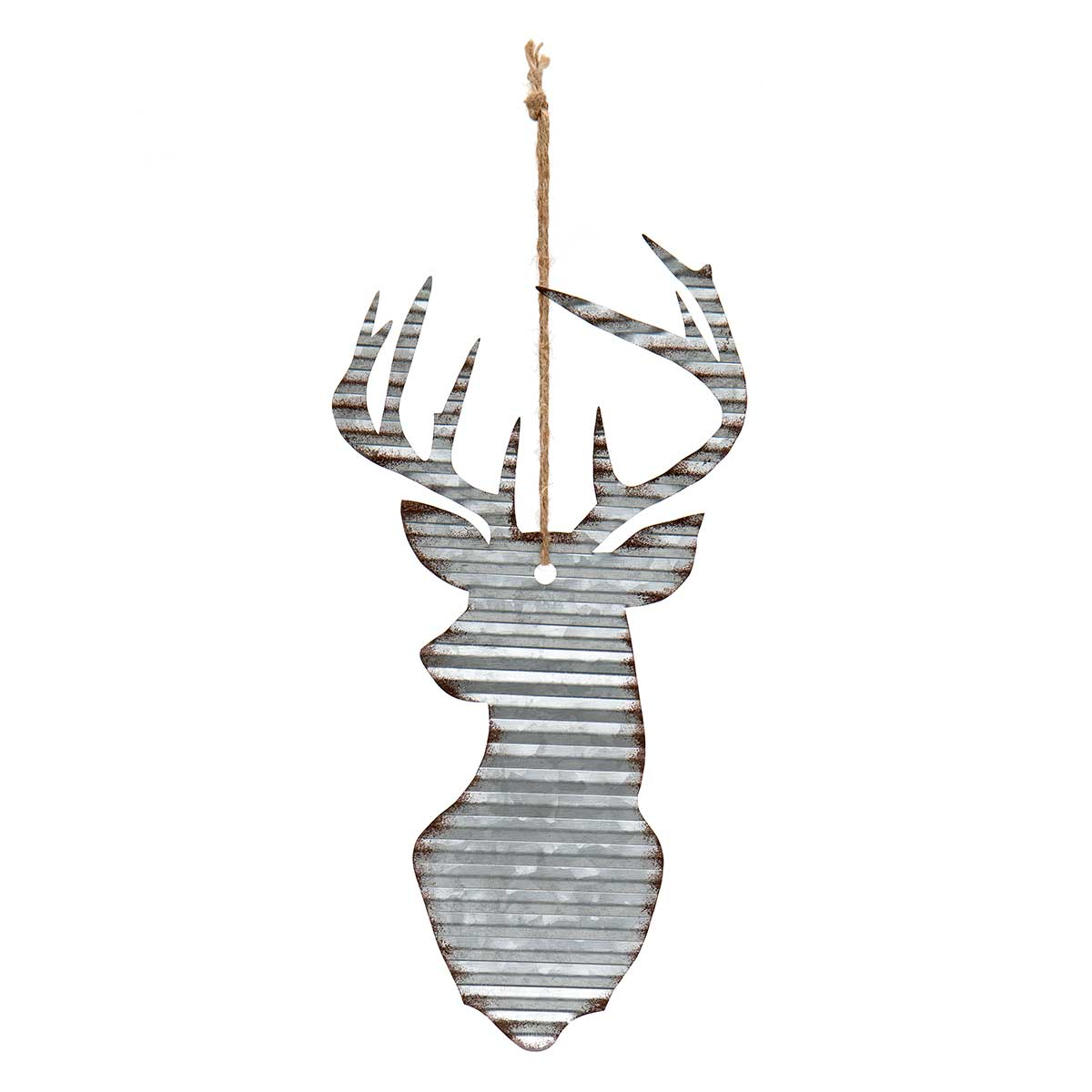 METAL DEER HEAD ORNAMENT