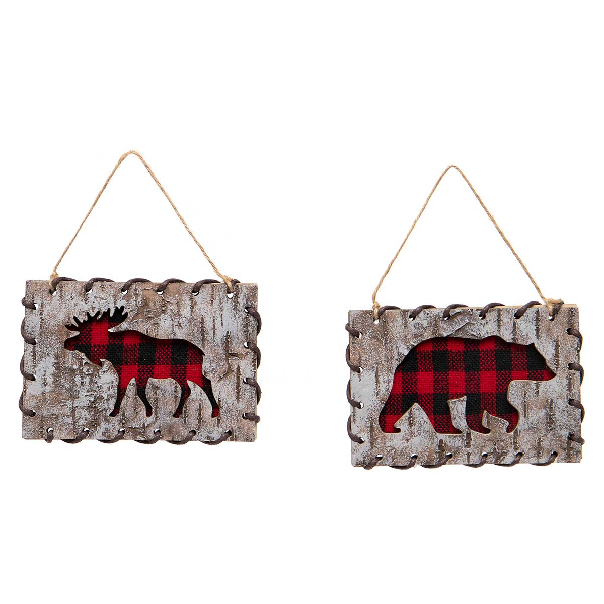 RED/BLACK BUFFALO PLAID MOOSE &