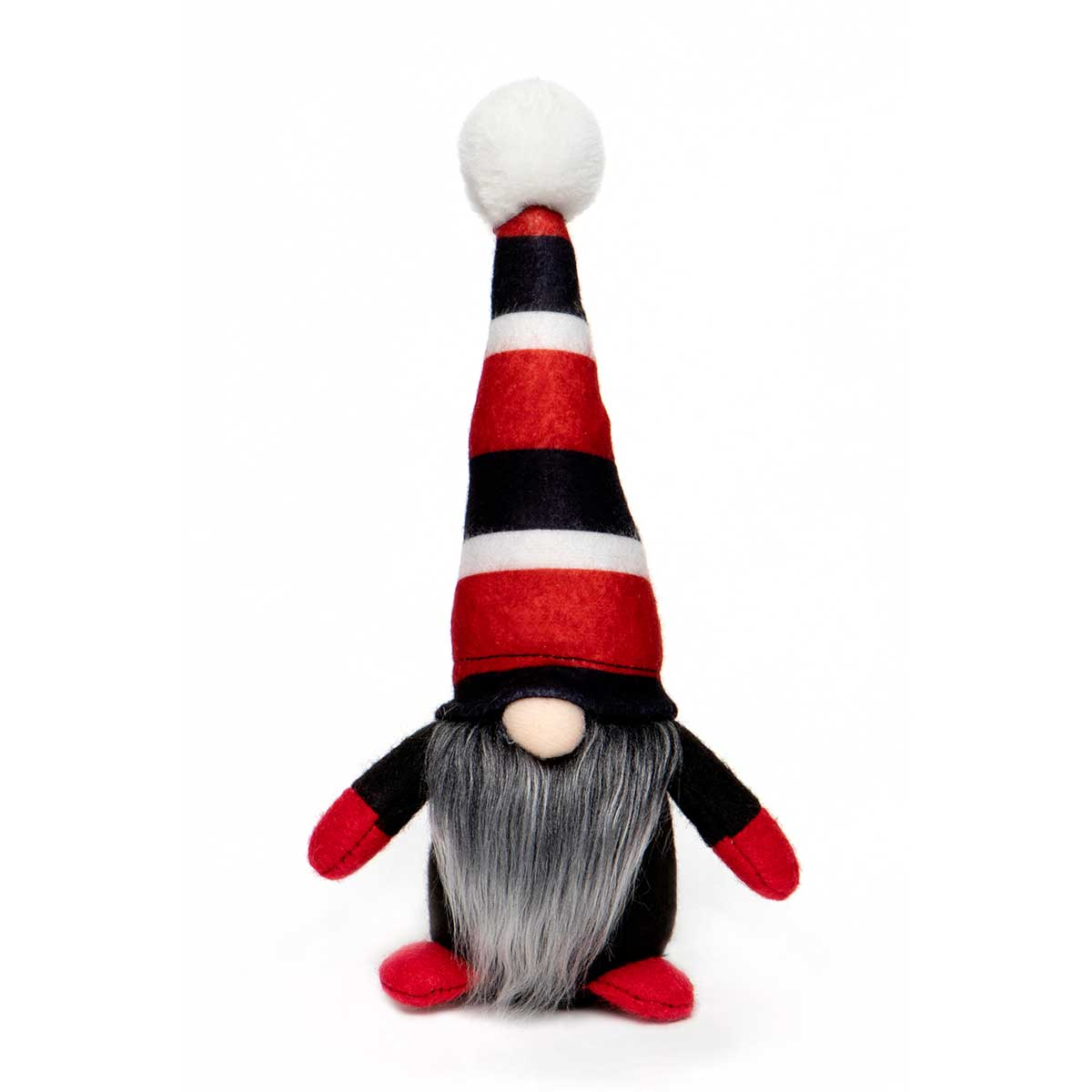 GNOME WITH RED & BLACK STRIPE HAT