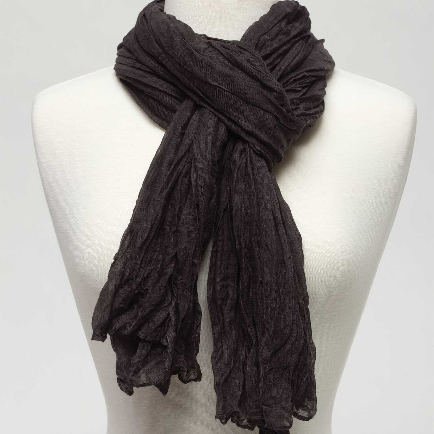 "Sheer Gauzy Scarf 75"" X 39"" Dark Gray *30sp"