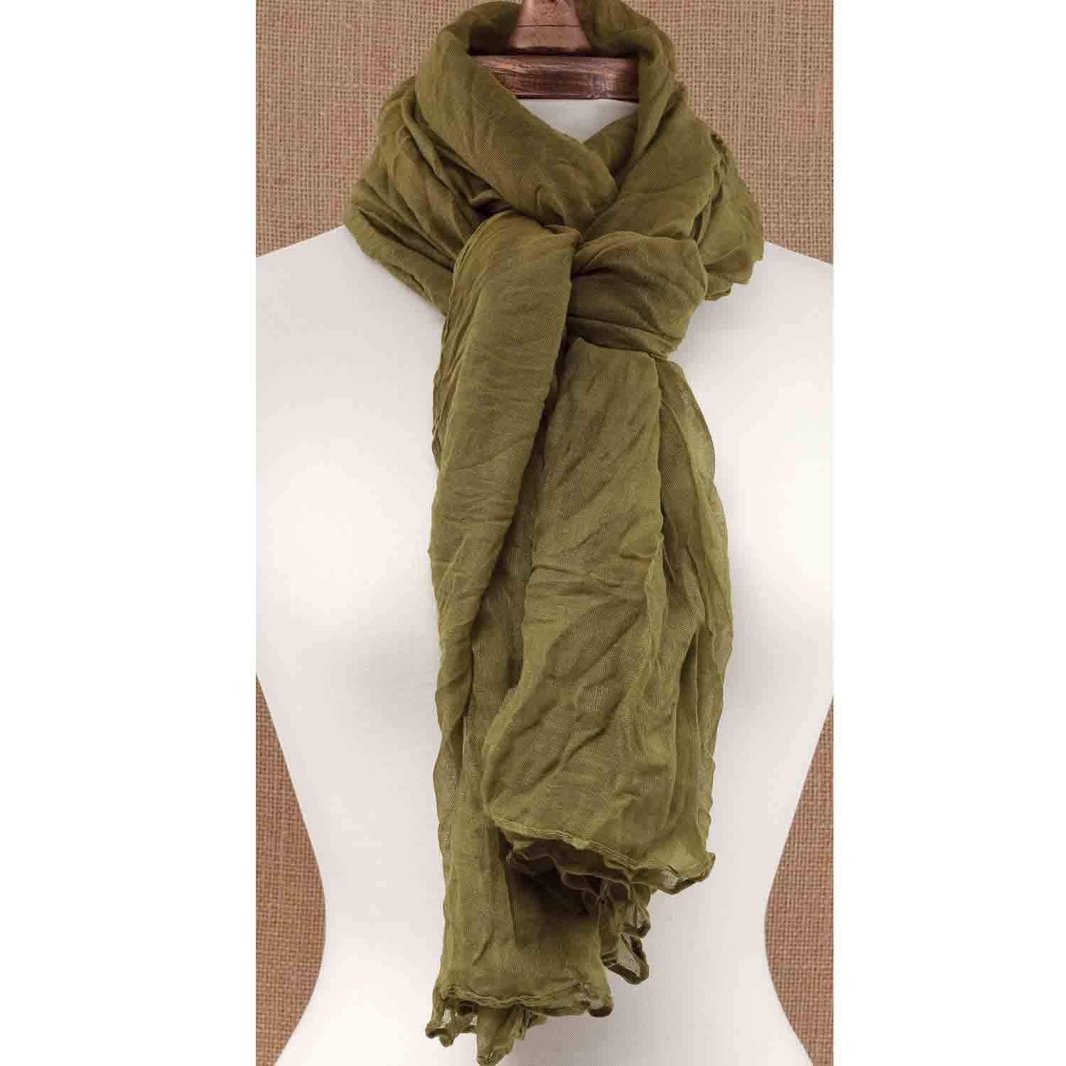 Sheer Gauzy Scarf Olive *30sp