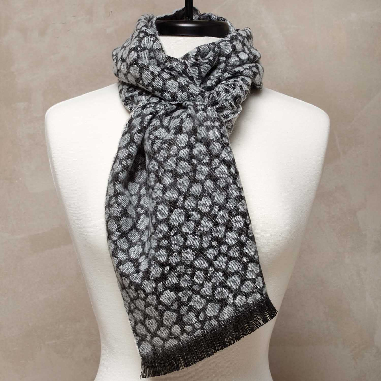 Leopard Print Scarf Gray - Snow Leopard *30sp