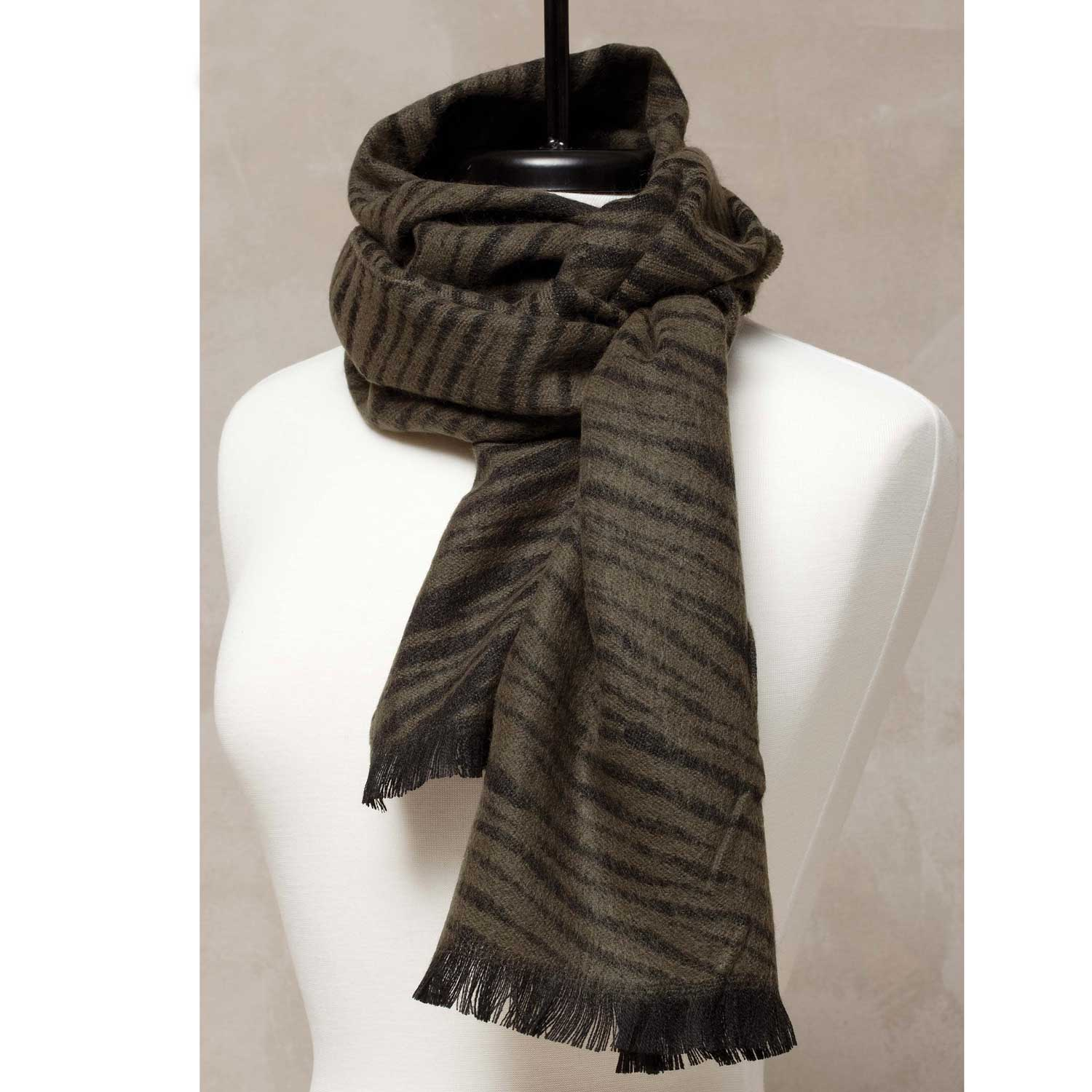 Zebra Print Scarf Brown *30sp