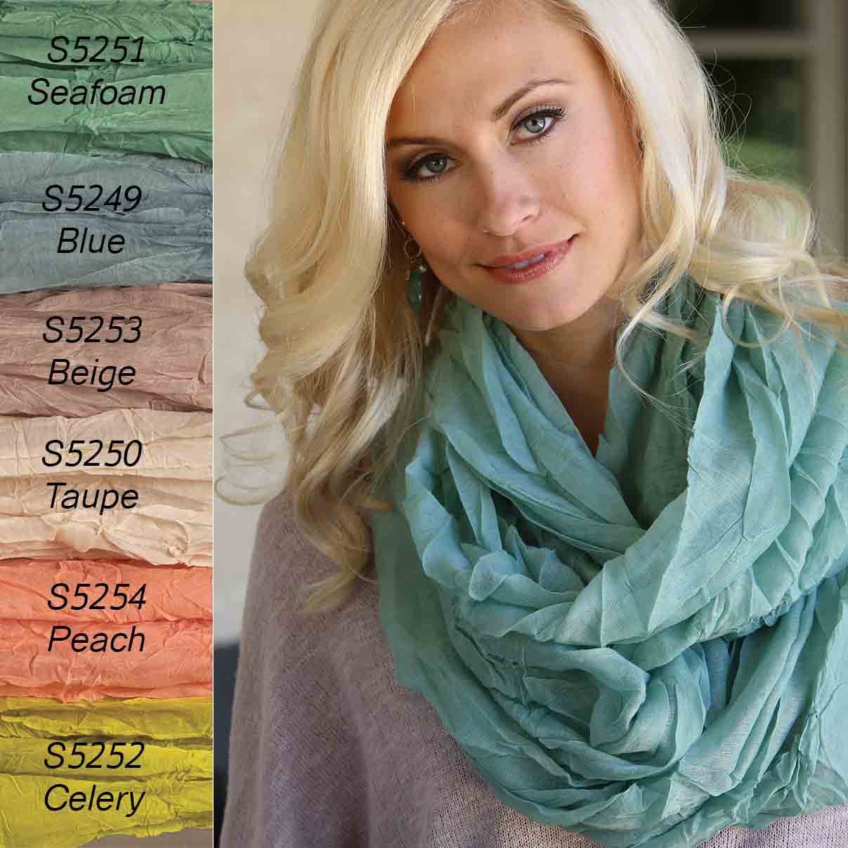Peach Sheer Gauzy Infinity Scarf *30sp