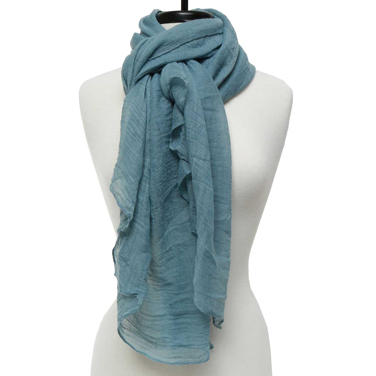 "BLUE SHEER GAUZY SCARF 75""X39"" *30sp"