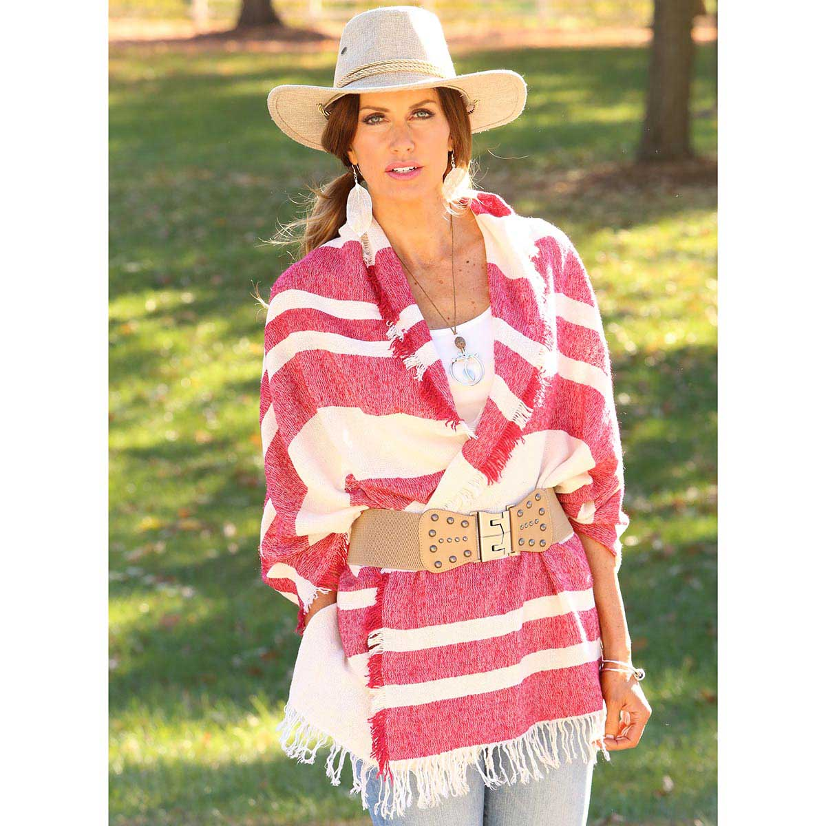 RED STRIPED SARAPE