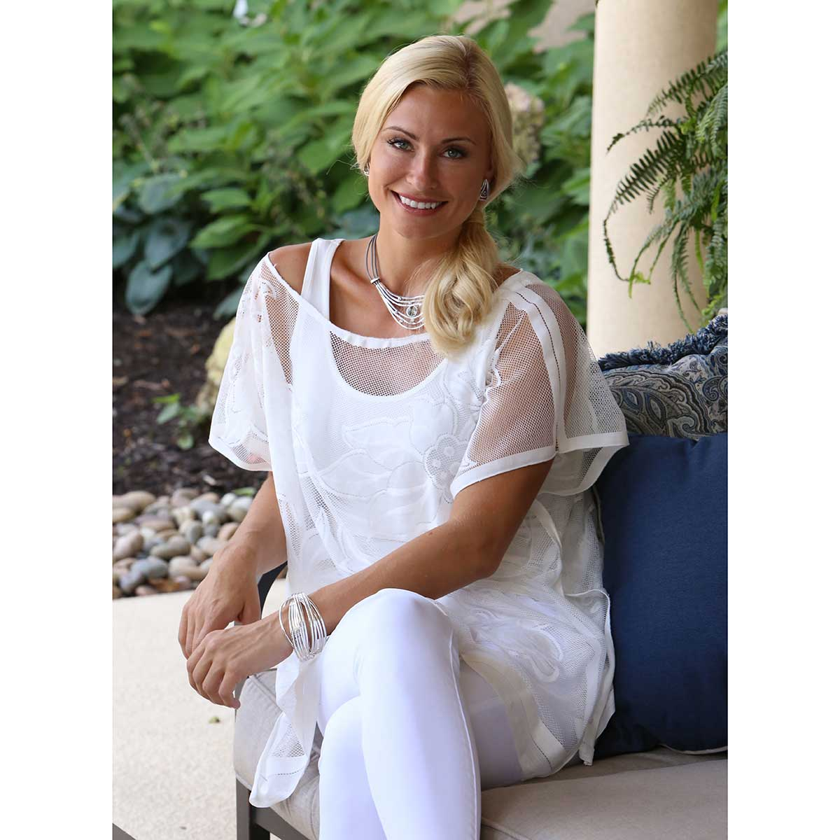"WHITE SHEER 30""X26"" TUNIC"