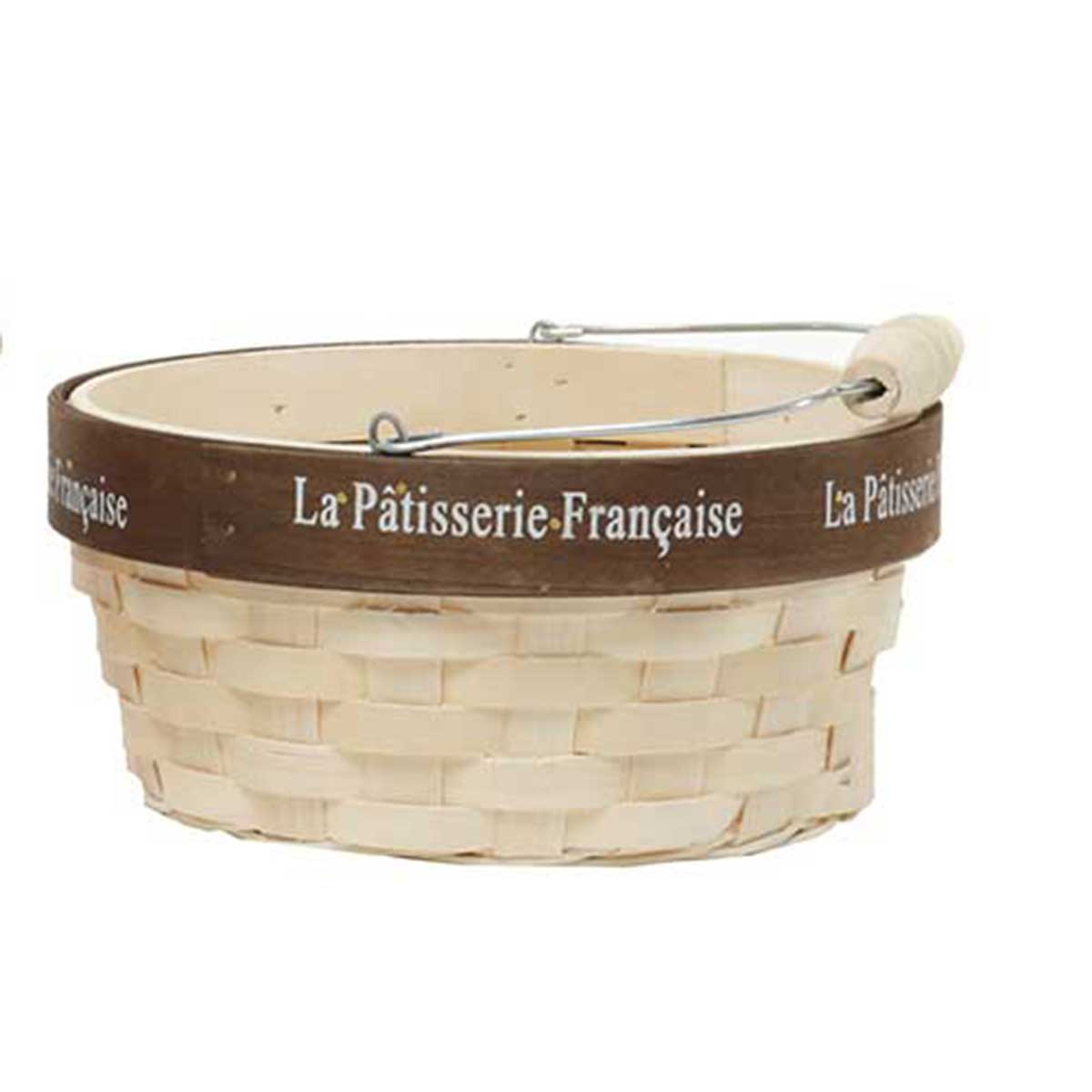 T3124 FRENCH PATISSERIE ROUND BASKET WITH HANDLE 70sp