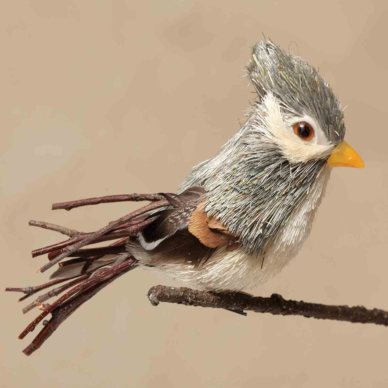 "NATURAL 7"" BIRD ON CLIP"