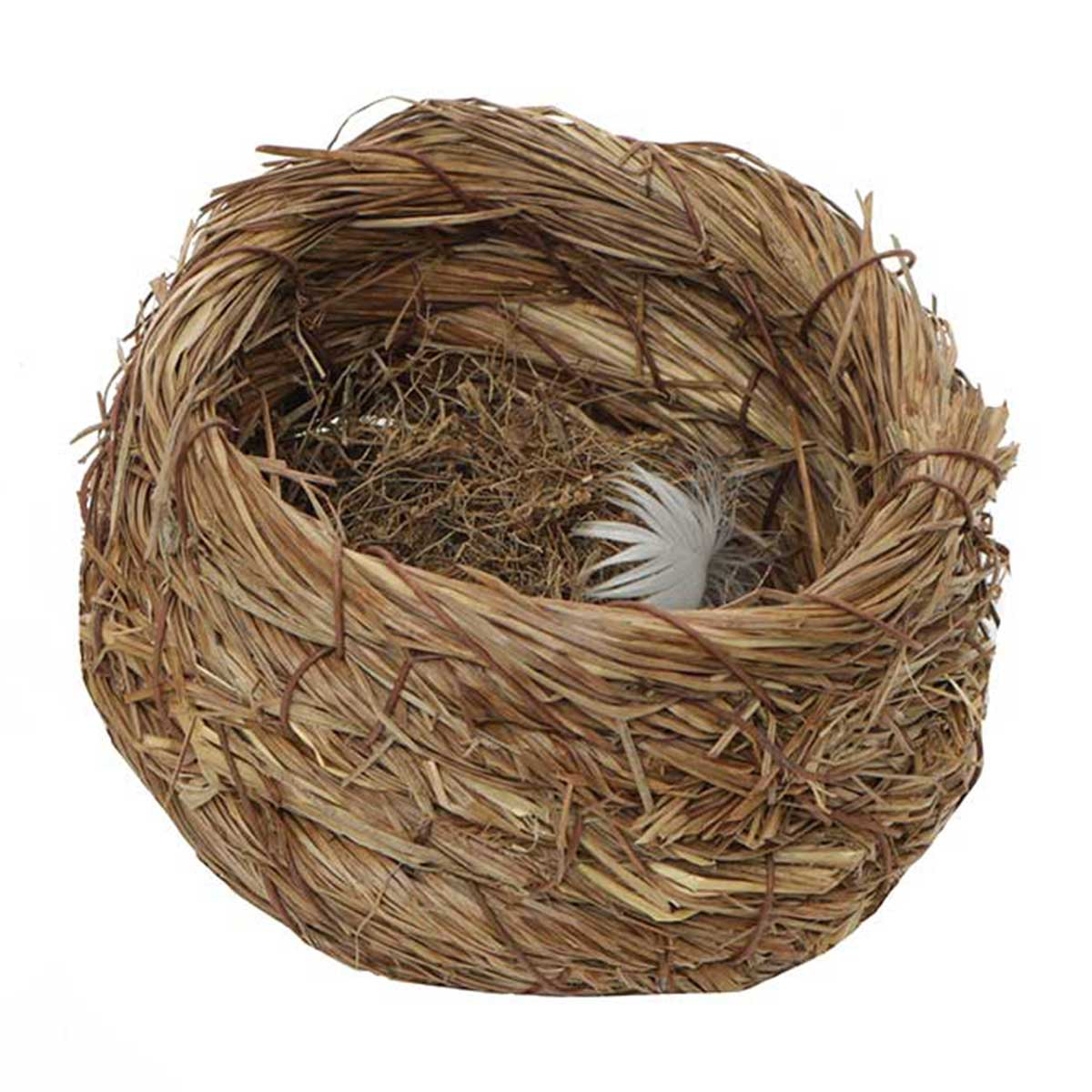 "SISAL AND GRASS 5""X3"" NEST BASKET"