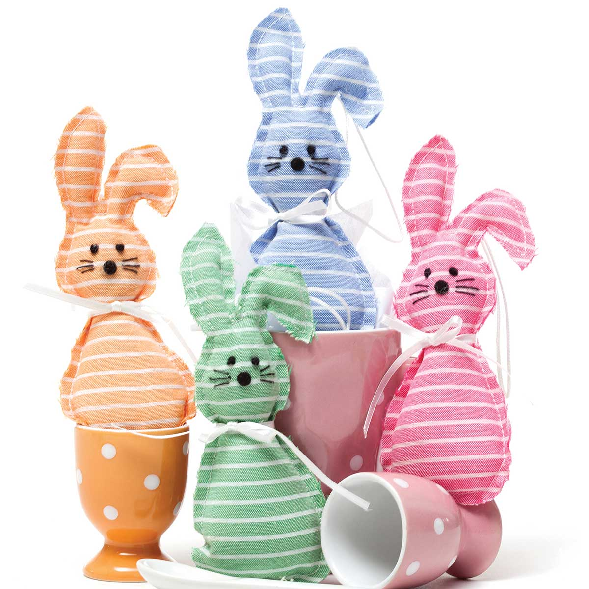Striped Itty-Bitty Bunny 6.5� 4 Assorted T3396 50%
