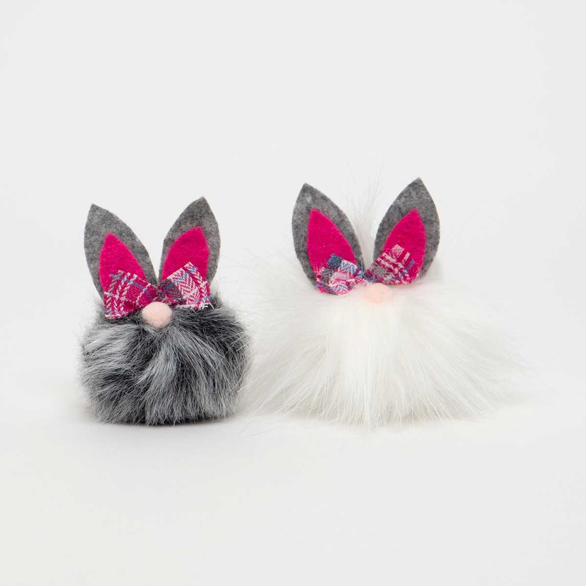 BUNNY CRITTER with PINK PLAID BOW