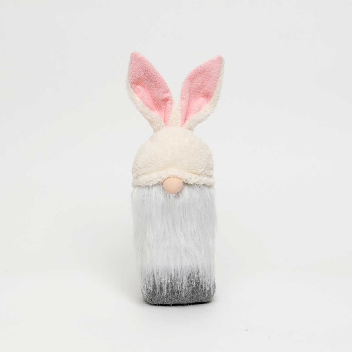 CREAM GNOME BUNNY with PINK EARS