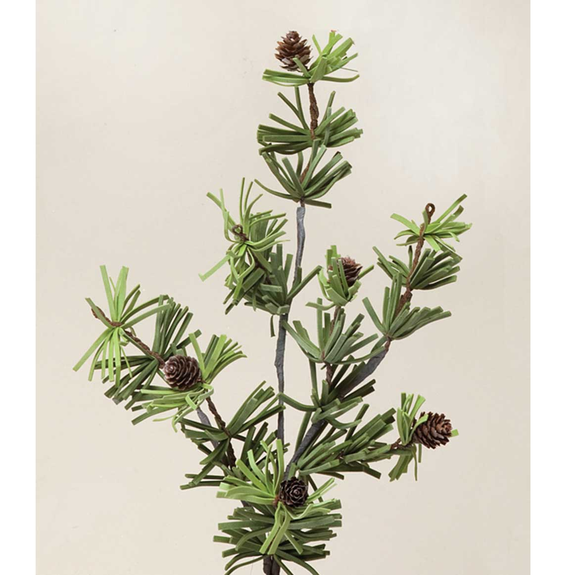 """V4040 VINTAGE CUT PINE SPRAY WITH MICA AND CONES 24"""" b50"""