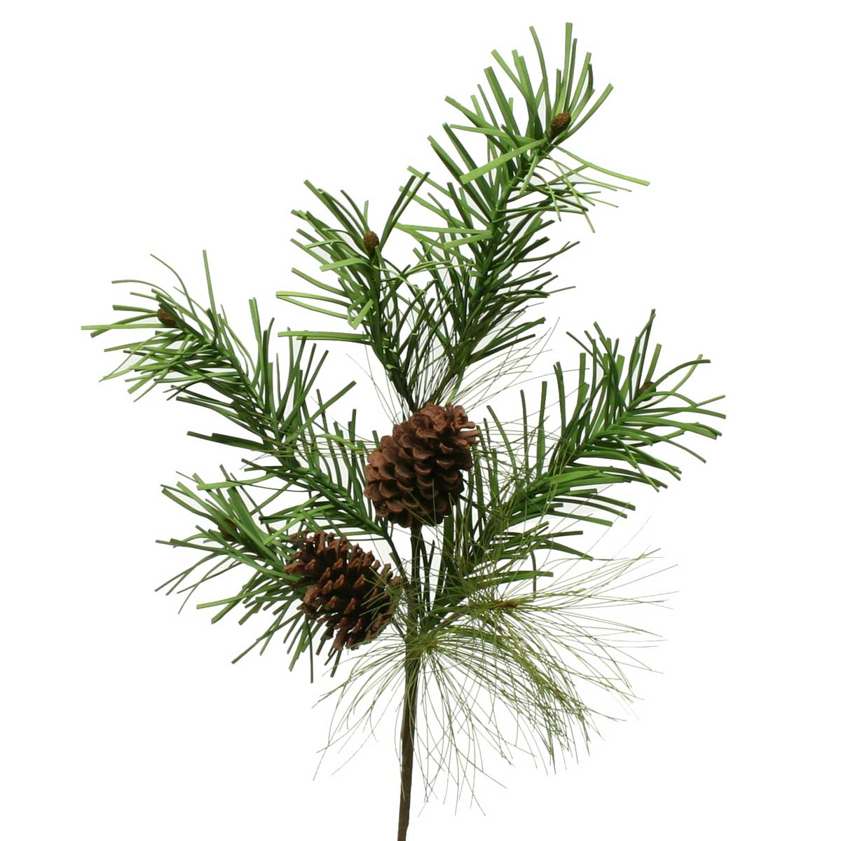 """V4042 NATURAL MIX PINE SPRAY WITH CONES 35"""" b50"""