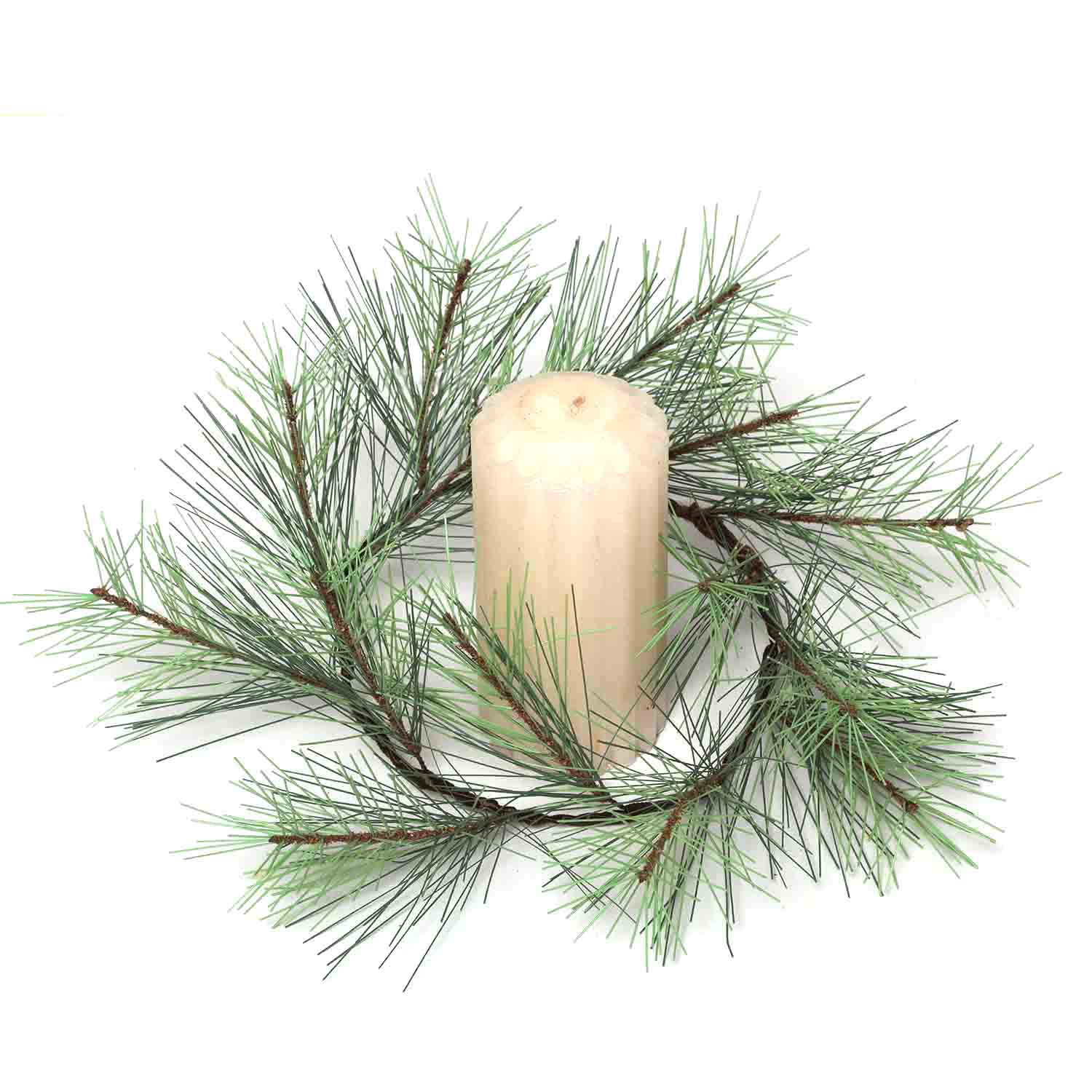 "BLUE SPRUCE 6.5""-16"" CANDLE RING v22"