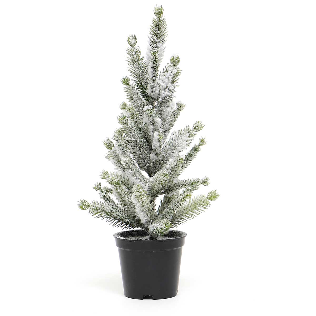 FIR TREE WITH SNOW IN BLACK POT