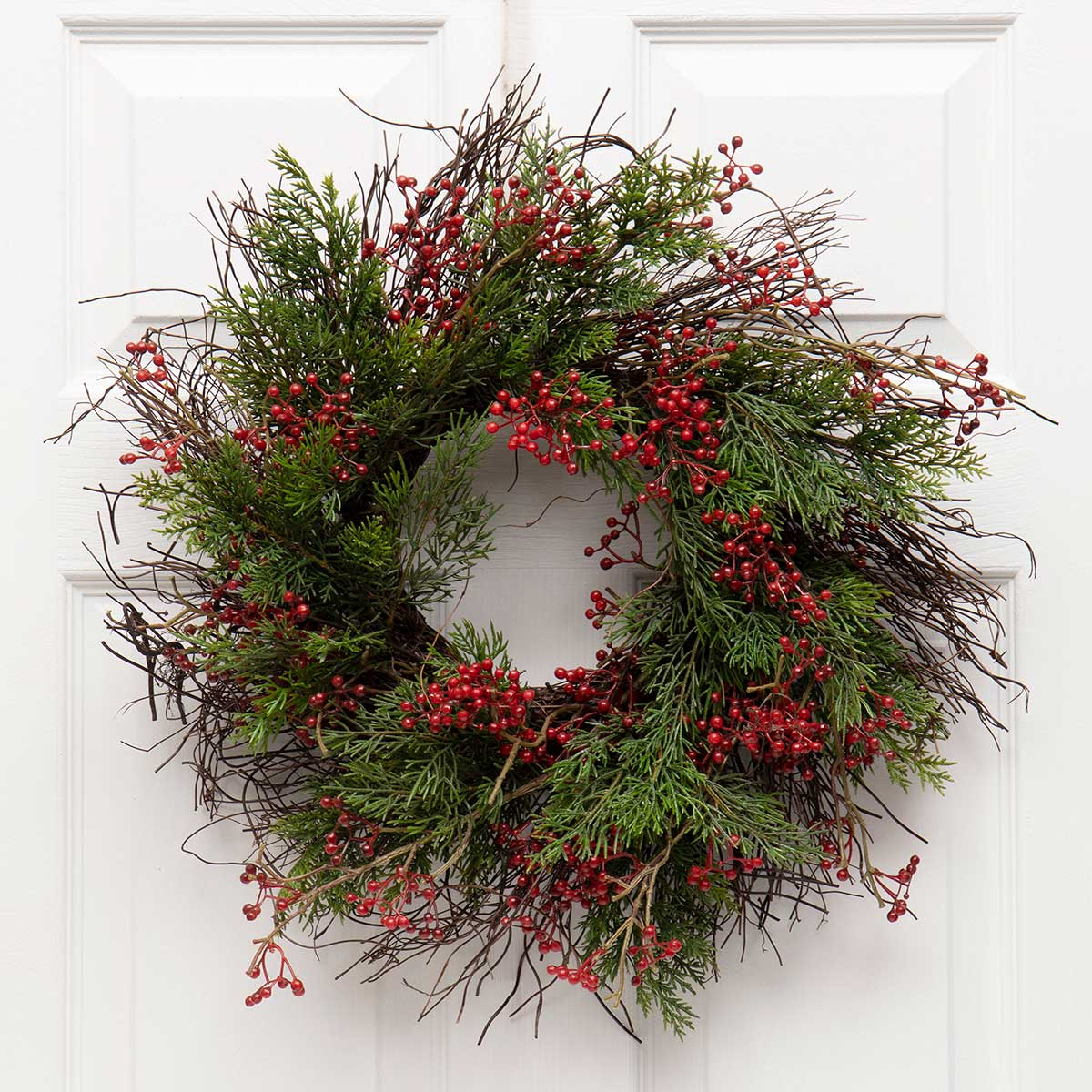 PINE & RED BERRY WREATH
