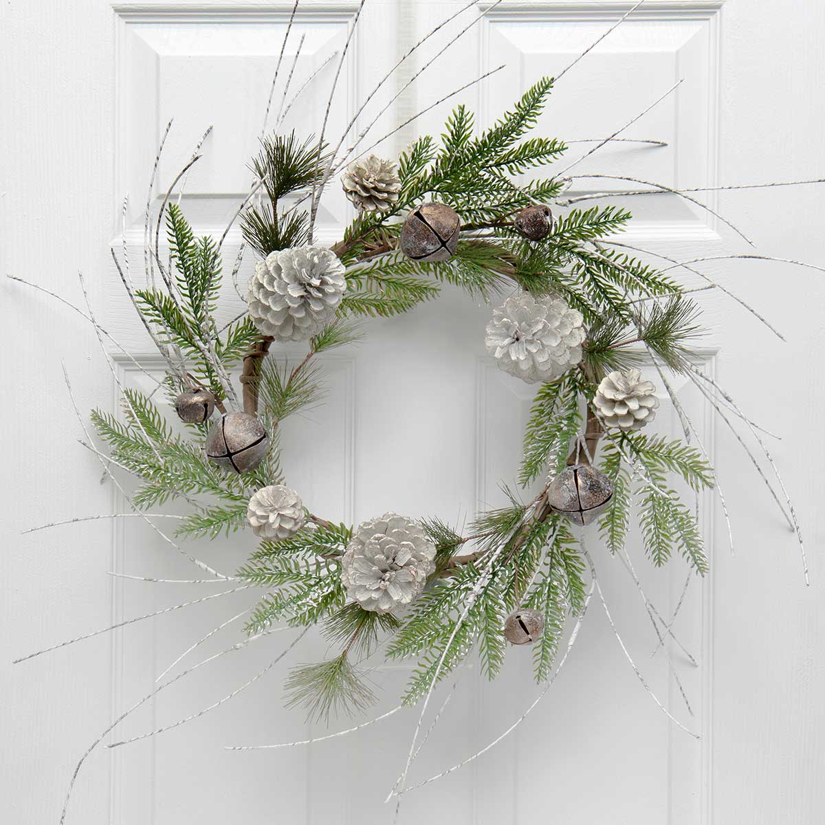BIRCH & PINE WREATH WITH JINGLE