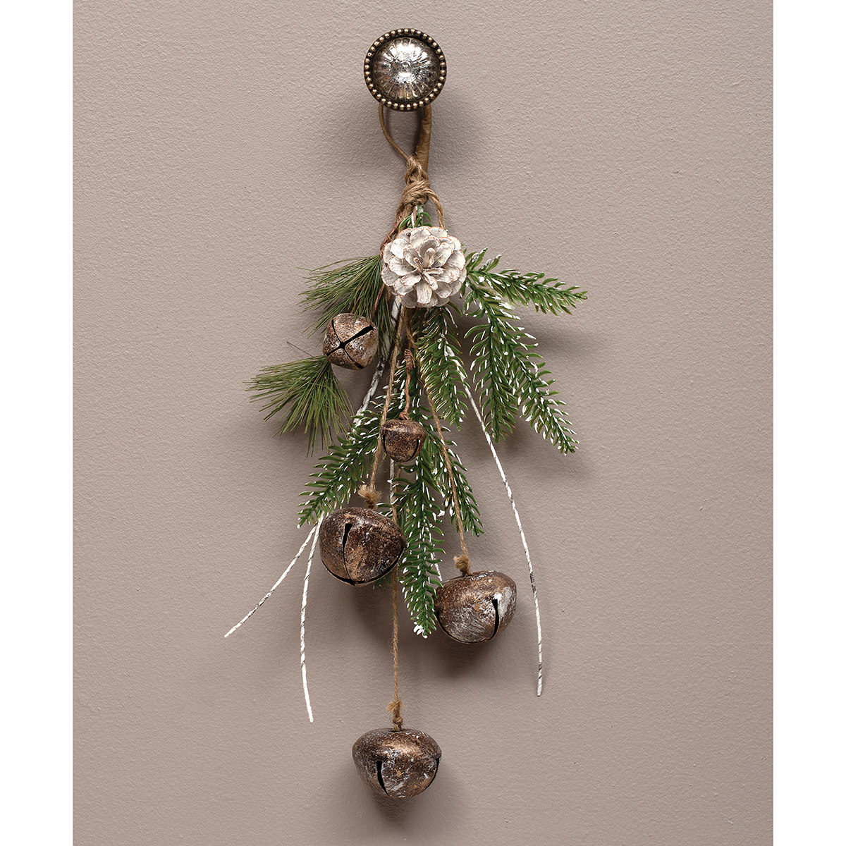 JINGLE BELL DROP ORNAMENT WITH BIRCH,
