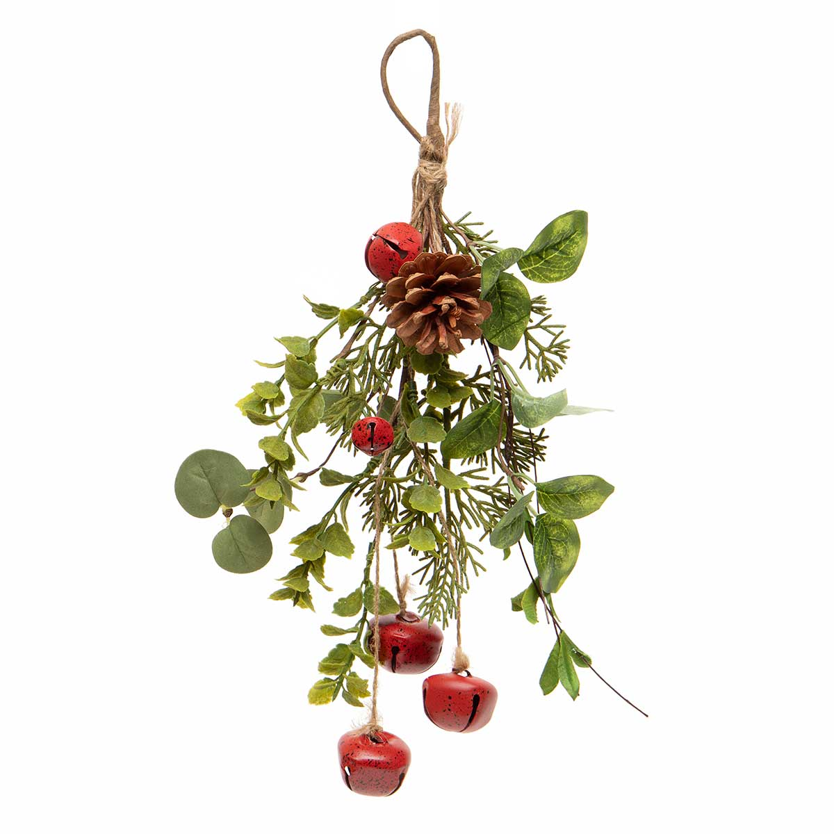 BELL X3 DROP ORNAMENT WITH PINE,